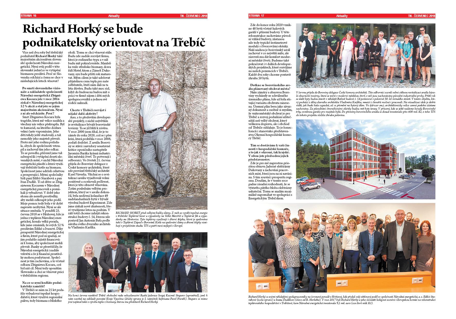 Třebíčské noviny - Richard Horký