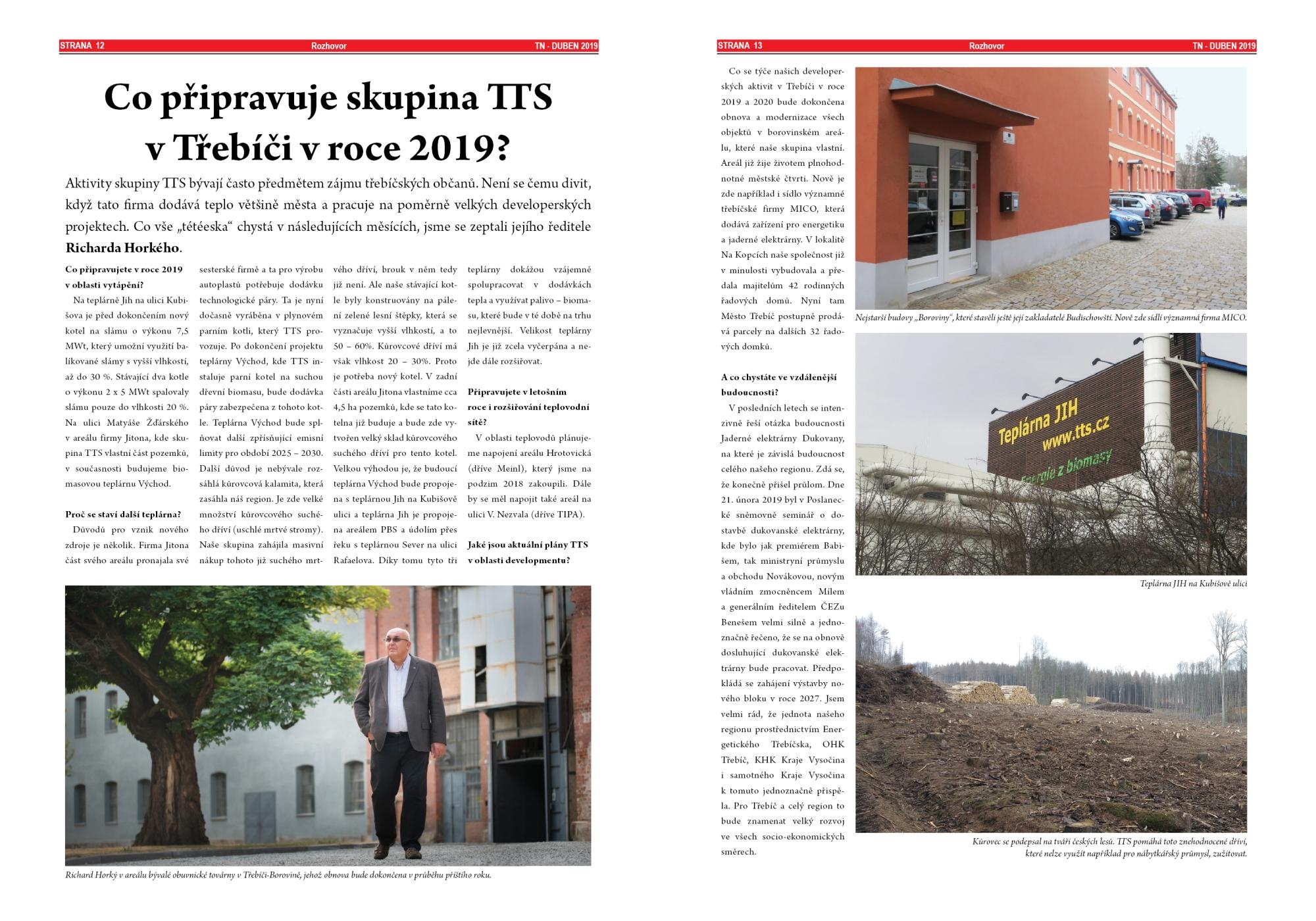 Třebíčské noviny duben 2019 - Richard Horký