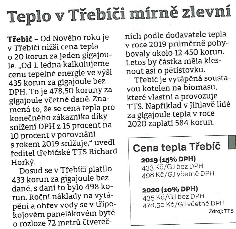 Třebíčský deník - 2. ledna 2020